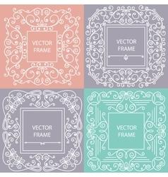 Ornamental frame monogram linear style vector image vector image