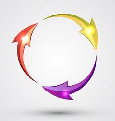 Arrow Circle - Cycle vector image vector image