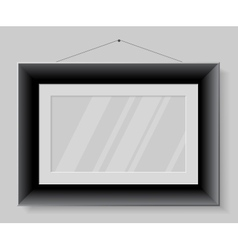 Black frame isolated on grey background vector image vector image