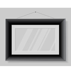 Black frame isolated on grey background vector image