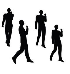 Businessman walking on white background vector