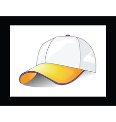 Cap on white background vector image vector image