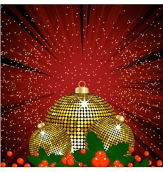 red and gold festive background vector image vector image
