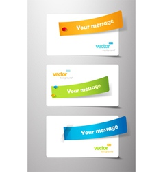 set of colored ribbons on gift cards vector image