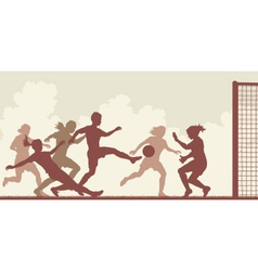 Soccer women vector image vector image