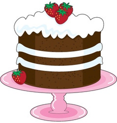strawberry shortcake vector image vector image