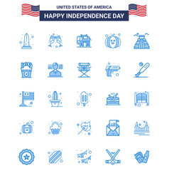 25 usa blue pack independence day signs and vector