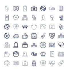 49 emergency icons vector