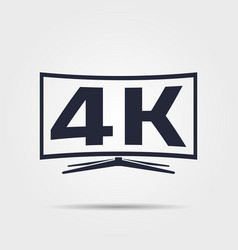 4k tv icon vector