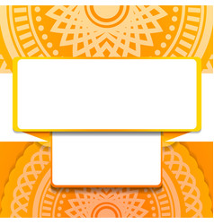 abstract geometric orange background vector image