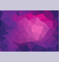 abstract pink violet light low polygon background vector image