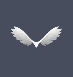 Abstract wings bird logo creative eagle vector
