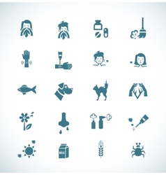 Allergies icons vector