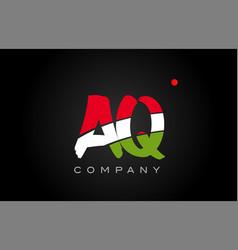 Aq a q alphabet letter logo combination icon vector