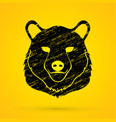 Big bear head graphic vector