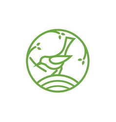 bird line icon design template isolated vector image