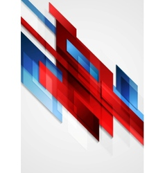 Blue and red hi-tech motion design vector