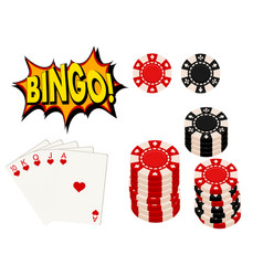 casino gambling win luck fortune gamble play game vector image