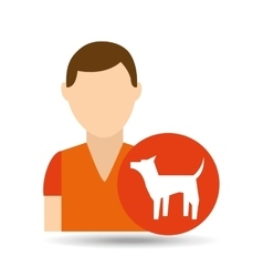 Character pet training dog icon vector