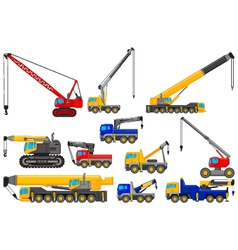 Collection of Lifting crane for you design vector