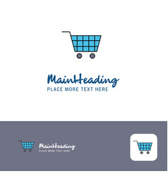 creative cart logo design flat color logo place vector image