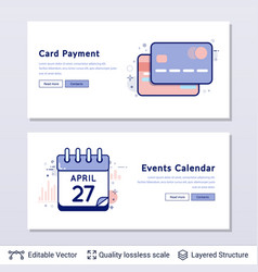 credit cards and calendar symbols vector image