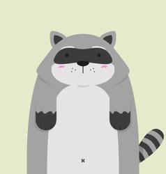 cute big fat Raccoon vector image