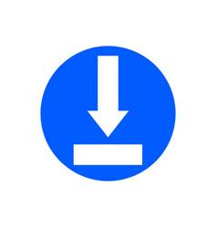 download glyph icon vector image