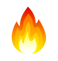 fire icon bright light heat and smoke vector image