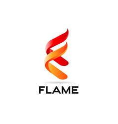 flame fire logo design symbol vector image