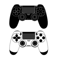 Gamepad for a console game vector