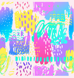 Glowing background in 80s 90s pop art style vector