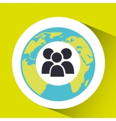 gro social media world map vector image