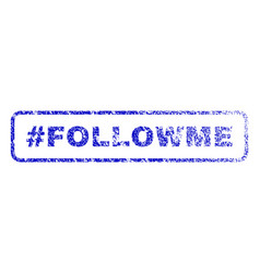 hashtag followme rubber stamp vector image