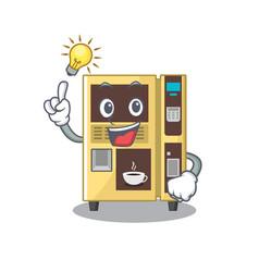 Have an idea coffee vending machine in cartoon vector