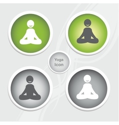 Health and fitness icons set - yoga icon vector
