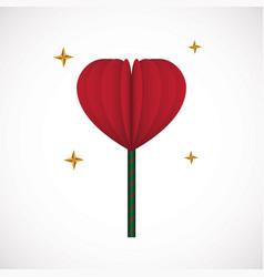 heart love lollipop sweet food flat design icon vector image
