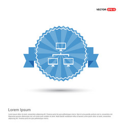Hierarchical network icon vector
