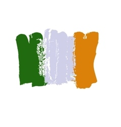 Ireland lag painted by brush hand paints Art flag vector image