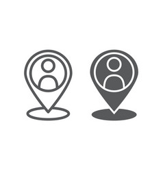 Local seo line and glyph icon optimisation and vector