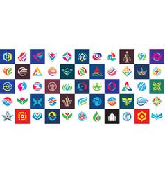 Logo set design abstract business modern icons vector