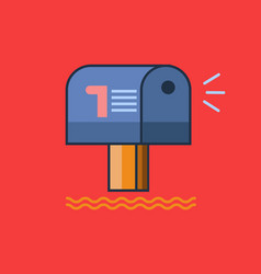 mailbox icon set of great flat icons use for vector image