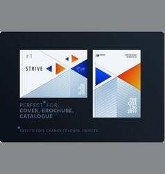 material design template creative blue orange vector image