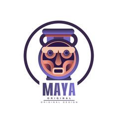 Maya logo original design tribal emblem vector