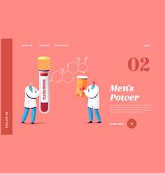 Men health testosterone therapy treatment vector