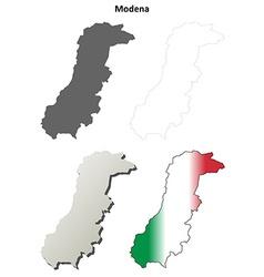 Modena blank detailed outline map set vector image
