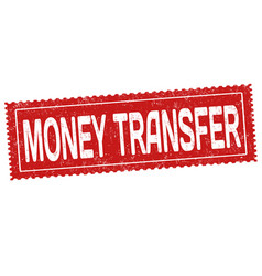 money transfer grunge rubber stamp vector image