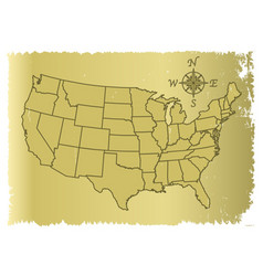 Old united states of america map vector