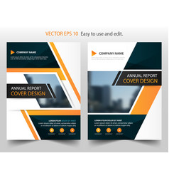 orange black annual report brochure design vector image