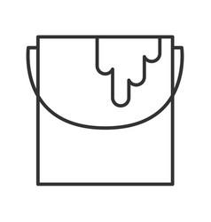 Paint bucket linear icon vector